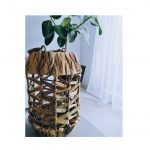Rustykalny lampion Hya z wikliny 25 cm