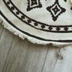 Dekoracyjny dywan w stylu boho z frędzlami Ø 90 cm