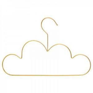 Wieszaki w kształcie chmurki złote – 3 sztuki