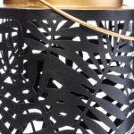 Latarnia metalowa z motywem liści