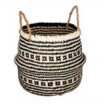 Aztecki kosz do przechowywania z trawy morskiej