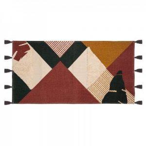 Bawełniany dywan w stylu etno 140×70 cm