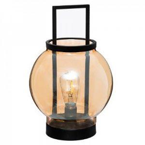 Lampa stołowa LED ze szkła bursztynowego