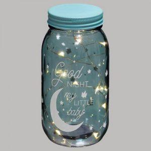 Dekoracja świetlna w słoiku – księżyc