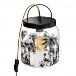 Szklana lampka nocna Jungle