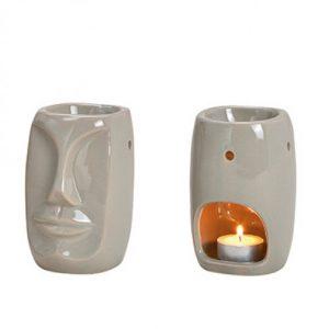 Kominek ceramiczny Totem na świeczkę Tealight