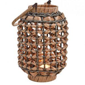 Dekoracyjny pleciony lampion z uchwytem