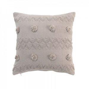 Poduszka dekoracyjna z pomponami 40×40
