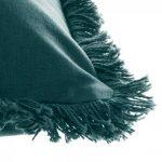 Poduszka w kolorze morskim z frędzlami 30×50 cm