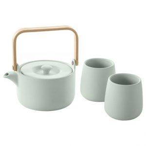 Ceramiczny zestaw do herbaty 2 kubki