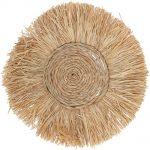 Naturalna dekoracja ścienna z trawy morskiej