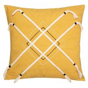 Poduszka dekoracyjna z frędzlami w stylu boho