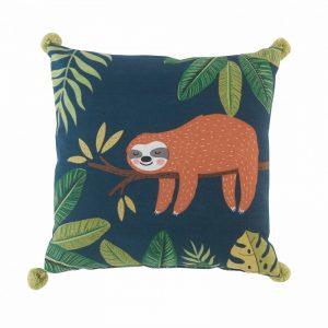 Poduszka dekoracyjna z leniwcem 40×40 cm