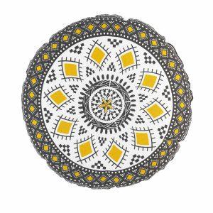 Poduszka dekoracyjna Birma z mandalą