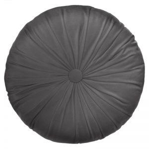 Okrągła poduszka dekoracyjna Dolce z marszczeniem