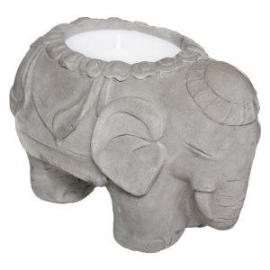 Świecznik słonik z woskiem o zapachu cytrusów
