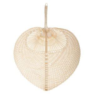 Bambusowy wachlarz na ścianę w kształcie liścia