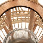 Duży drewniany lampion na świecę