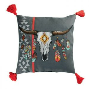 Poduszka dekoracyjna motyw bawoła nordycka 40×40