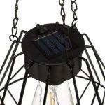 Solarna lampa LED industrialna – wisząca