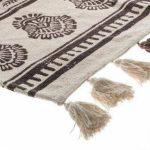 Prostokątny dywan bawełniany z frędzlami motyw aztecki