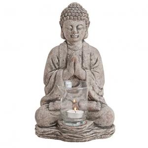 Dekoracyjny świecznik na tealight z wizerunkiem Buddy