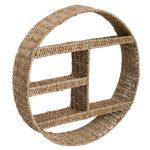 Okrągła półka ścienna z trawy morskiej Boho
