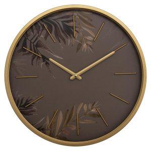 Zegar ścienny Anais z motywem liści