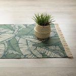 Dywan bawełniany z kolekcji Jungle liście 170×120 cm