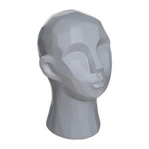 Dekoracja stojąca – ceramiczna głowa 22 cm