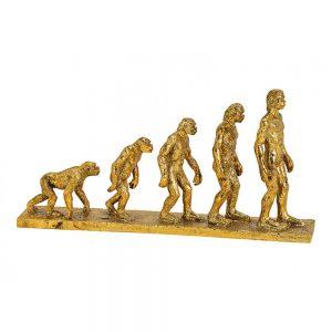 """Dekoracyjna figura """"Human Evolution"""" w kolorze złotym"""
