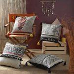 Poduszka dekoracyjna 45×45 cm Nimba etno