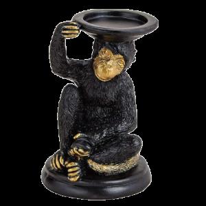 Świecznik w kształcie małpki 20 cm